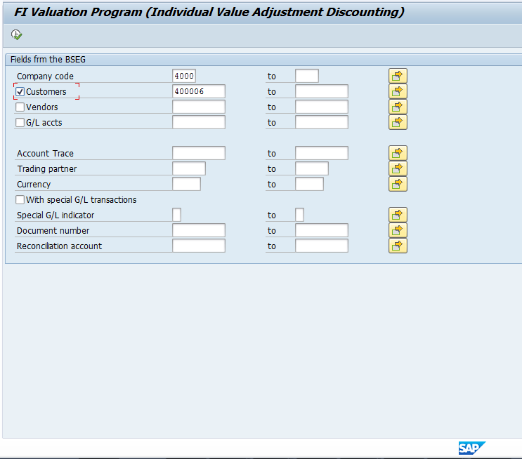 Value Adjustment Program Selection Options