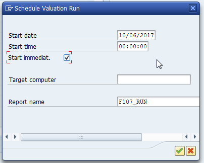 Schedule Valuation Run