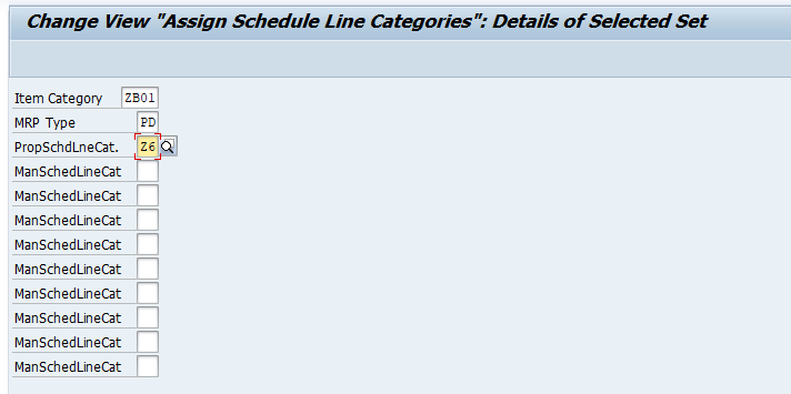 Assignment of the Main Schedule Line Category is Crucial Here