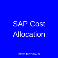 SAP Cost Allocation
