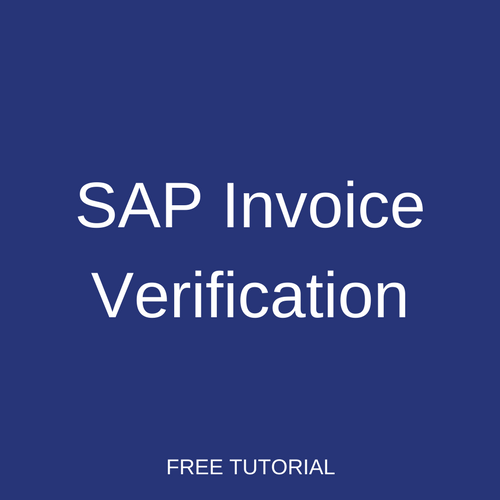 SAP Invoice Verification Tutorial Free SAP MM Training - Invoice discrepancy meaning