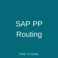 SAP PP Routing