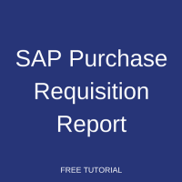 SAP Purchase Requisition Report