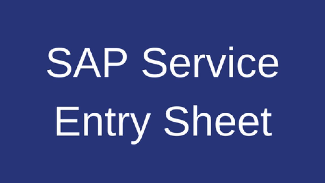 SAP Service Entry Sheet Tutorial - Free SAP MM Training