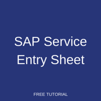 SAP Service Entry Sheet