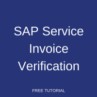 SAP Service Invoice Verification