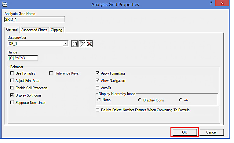 Analysis Grid Properties: Confirming the Data Provider