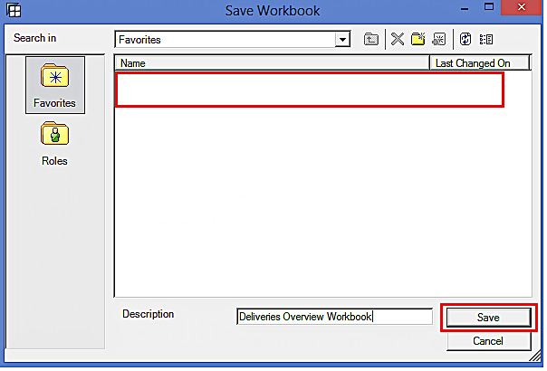 Enter Description and Save the Workbook