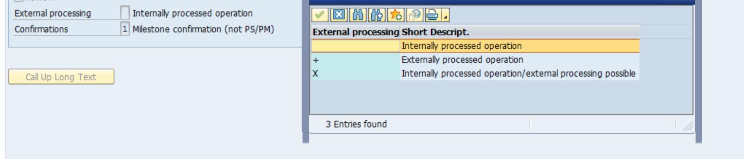 External Processing