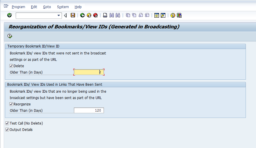 Reorganize and Delete Bookmark IDs and View IDs That are Created by BEx Broadcaster