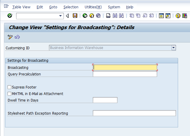 SAP BEx Broadcaster Configuration Tutorial - Free SAP BW