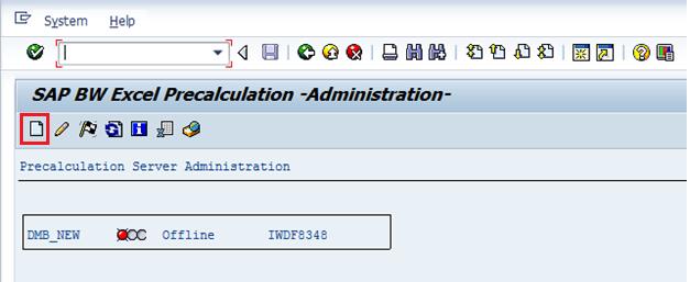Create Precalculation Server