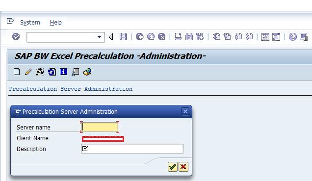 Specify Server Name and Description for Precalculation Server