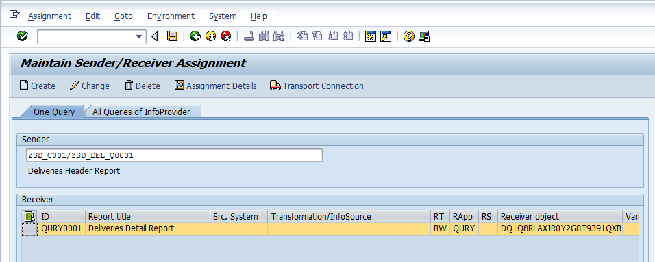 Transferred Sender/Receiver Assignment