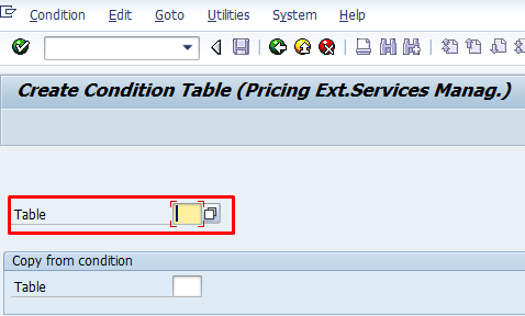 Create Condition Table – Transaction M/13