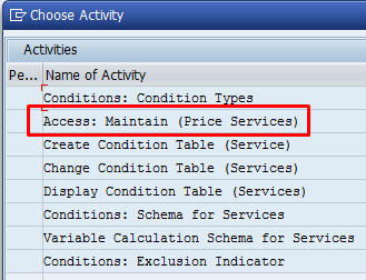 Create Access Sequence – Transaction M/11