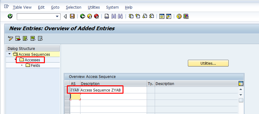 Access Sequence ZYAB Created