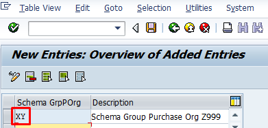 Schema Group for Purchasing Organization – Transaction OMFM