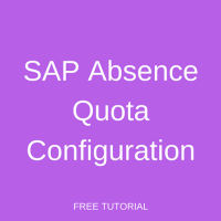 SAP Absence Quota Configuration