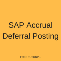 SAP Accrual Deferral Posting