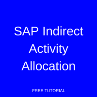 SAP Indirect Activity Allocation