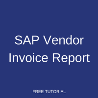 SAP Vendor Invoice Report