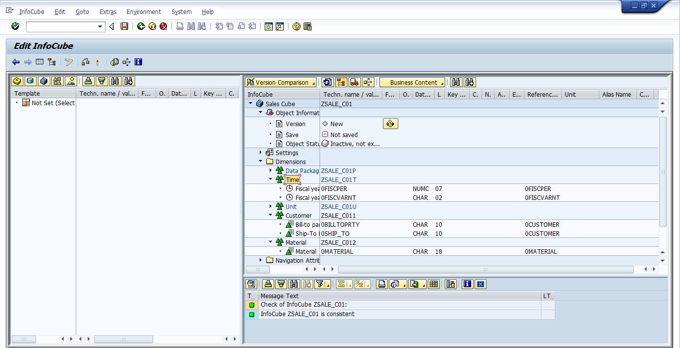 Checking SAP BW InfoCube