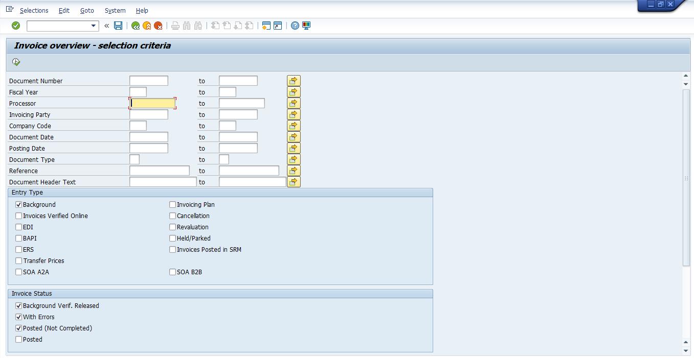 SAP Vendor Invoice Overview
