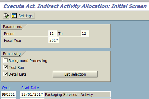 Execute Activity Indirect Allocation