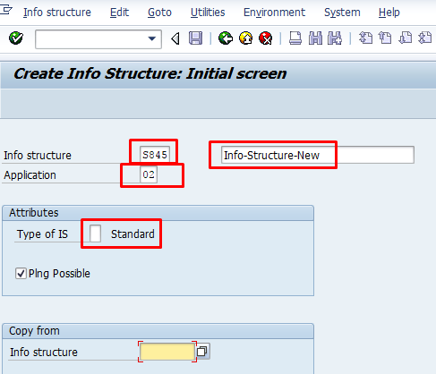 Create SAP MM Info Structure – Transaction MC21