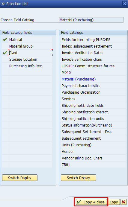 SAP MM Info Structure - Fields and Field Catalogs