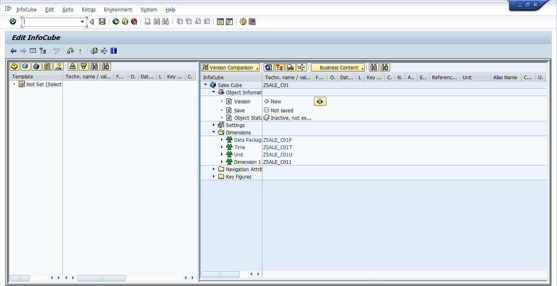 Editing SAP BW InfoCube