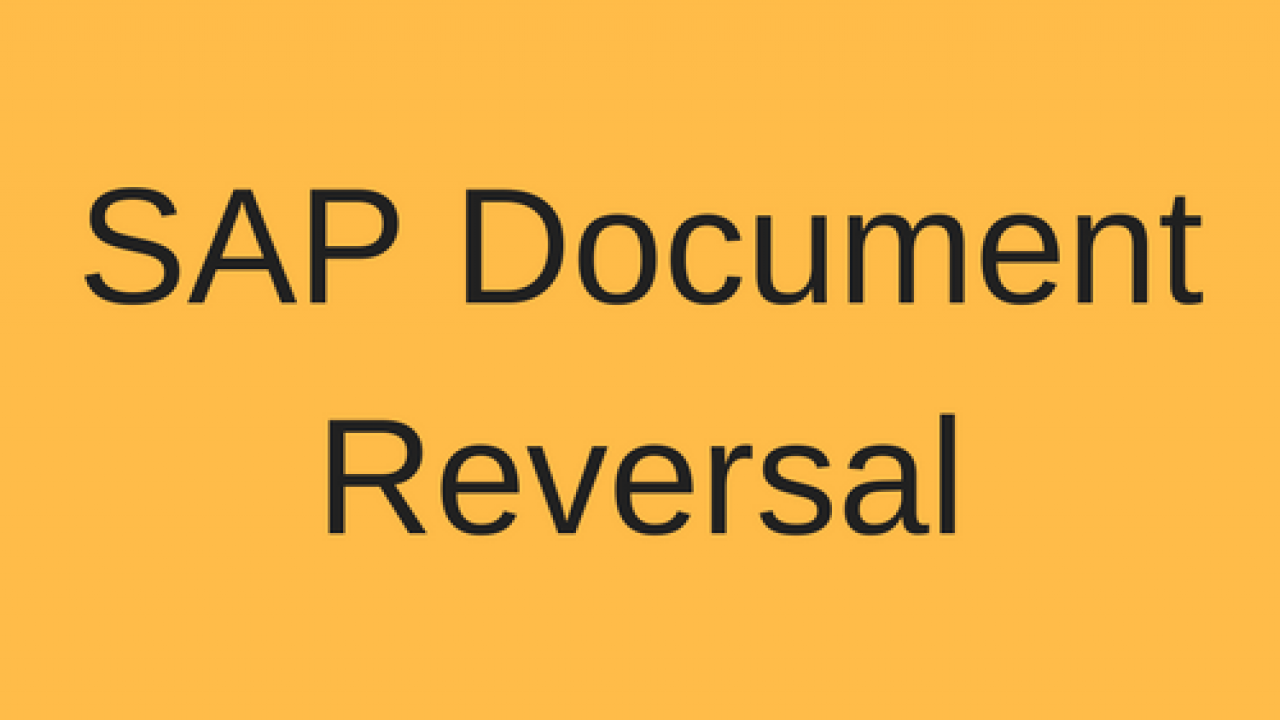 SAP Document Reversal Tutorial - Free SAP FI Training