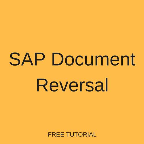 SAP Document Reversal Tutorial - Free SAP FI Training