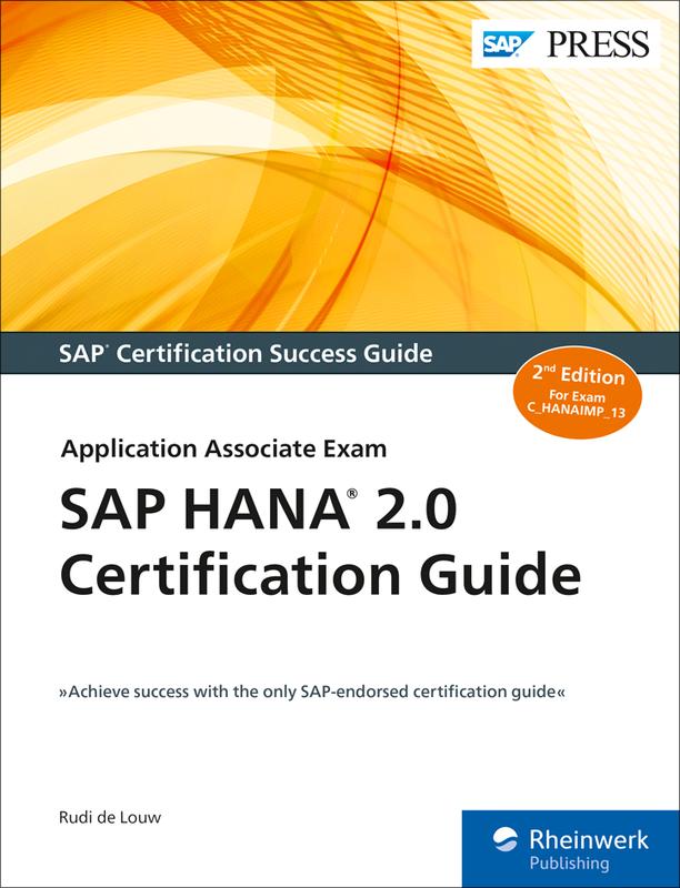 Sap Hana 20 Certification Guide Sap Hana Books Erproof