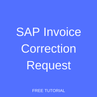 SAP Invoice Correction Request