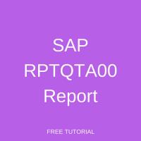 SAP RPTQTA00 Report