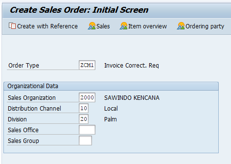 Create SAP Invoice Correction Request