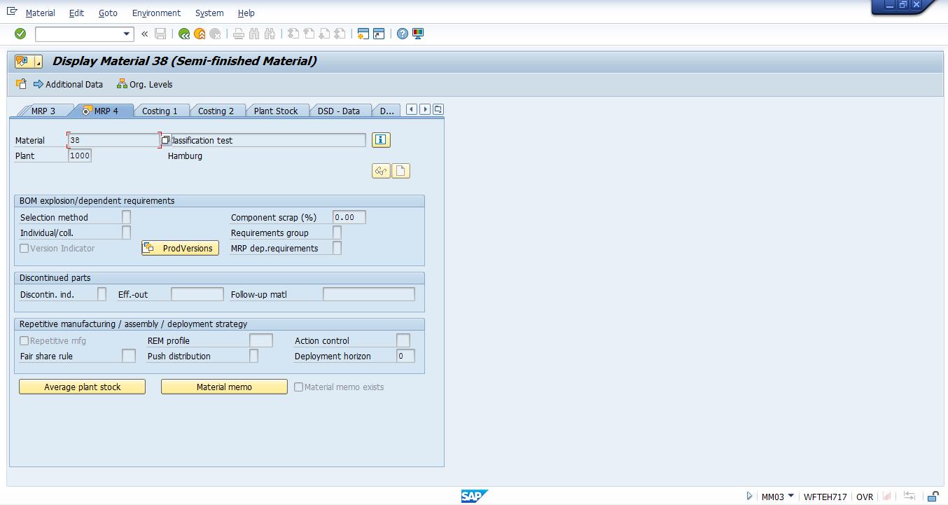 SAP Material Master – MRP 4 View