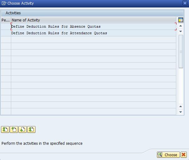 Figure 2: Activity List for Quotas