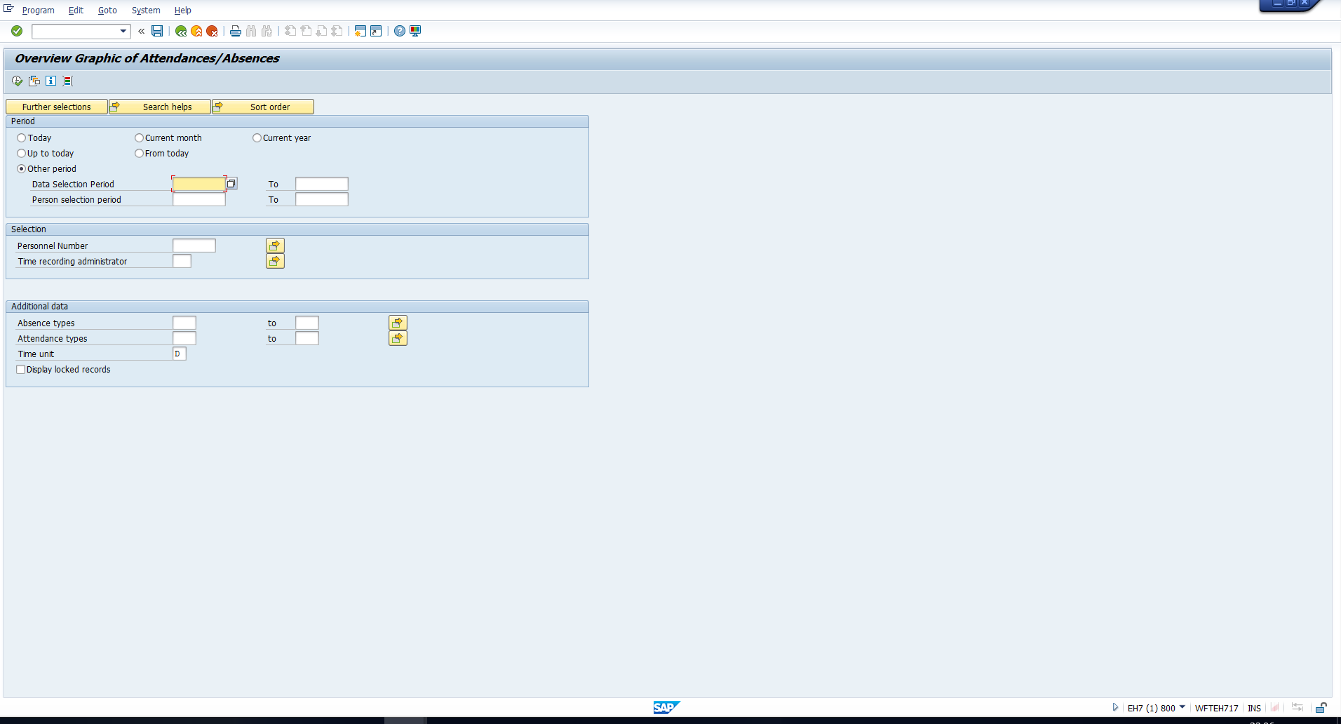 Figure 17: Selection Screen
