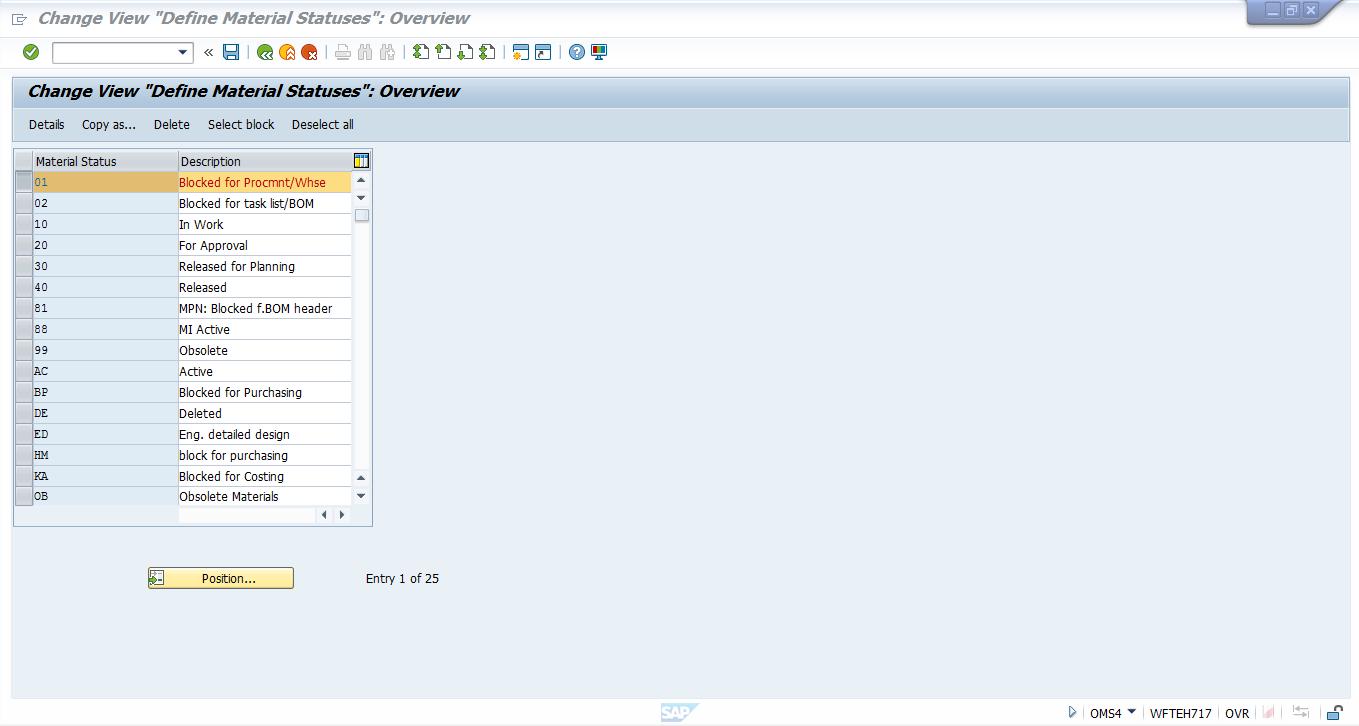 SAP Material Status Tutorial - Free SAP MM Training