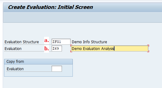Enter Evaluation Structure, Name the Evaluation Key and Description