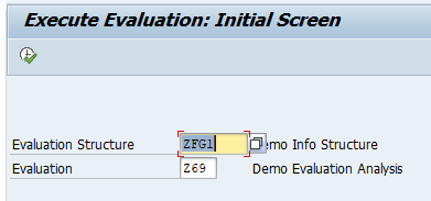 Execute Evaluation – Initial Screen