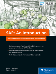 SAP: An Introduction —Next-Generation Business Processes and Solutions