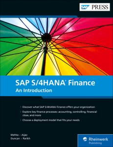 SAP S4/HANA Finance: An Introduction