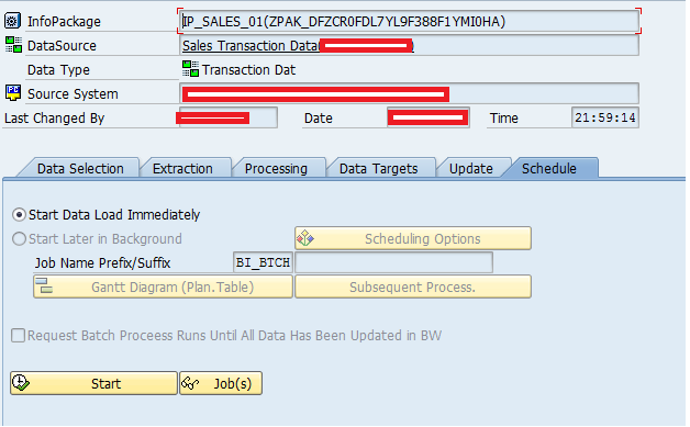 SAP BW Info Package