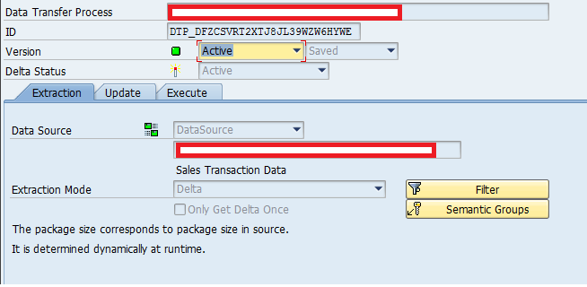 SAP BW Data Transformation Process (DTP)