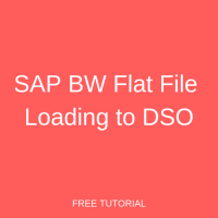 SAP BW Flat File Loading to DSO