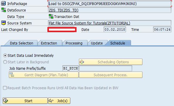 Creating InfoPackage